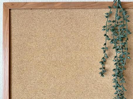 Cork board wallpaper