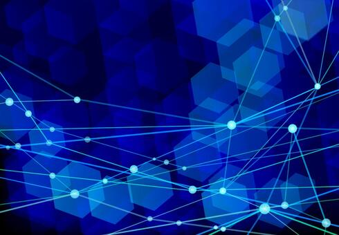 Deep blue network technology abstract background material