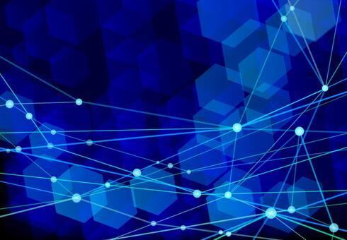 딥 블루 네트워크 기술 추상 배경 소재