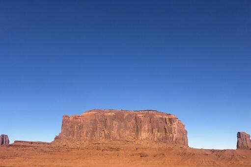 Write in the margin! Monument Valley blue sky