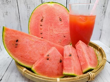 Kodama melon and watermelon juice