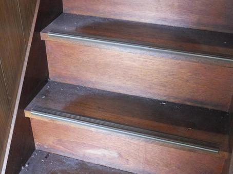 Dust accumulated stairs