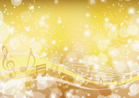Golden glitter music frame background material texture