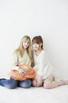 Female friend Foreigner and Japanese 35