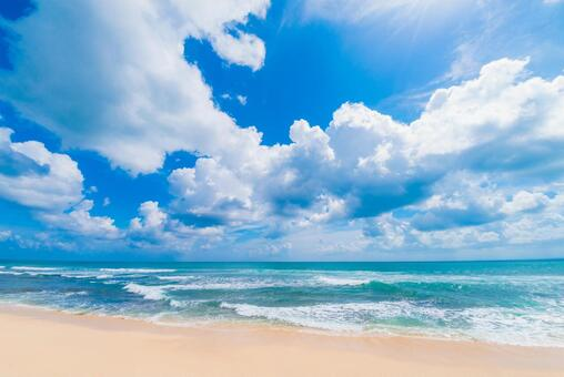 리조트 해변