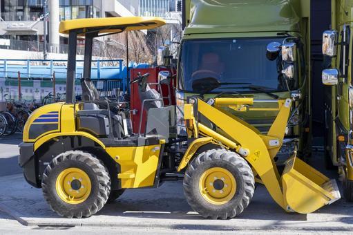 Yellow wheel loader