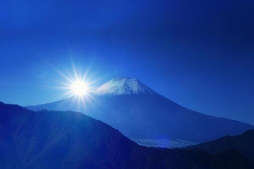 Mt. Fuji and the first sunrise