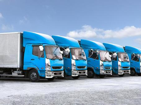 Logistics image Light blue truck