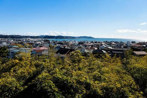 가나가와 현 가마쿠라시 하세 데라에서 바라 보는 거리 풍경