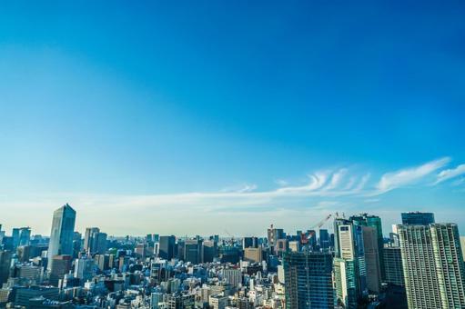 세계 무역 센터 (씨 사이드 톱)에서 보이는 도쿄의 거리 풍경