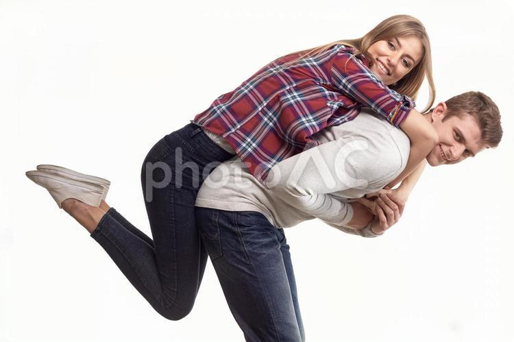 仲良しカップルの写真