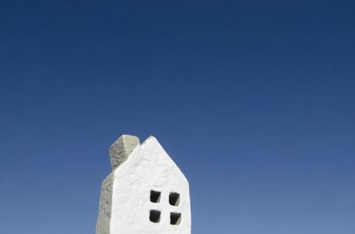 Blue sky and house