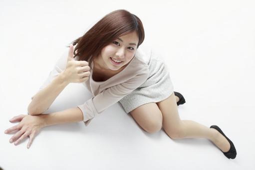 Sitting woman 6