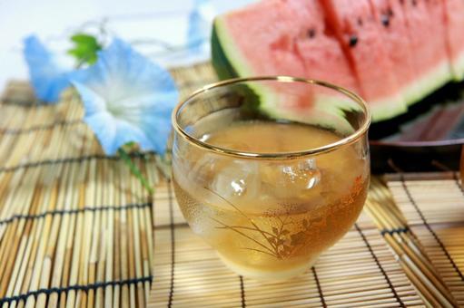 Chilled mugi tea watermelon summer hydration watermelon watermelon