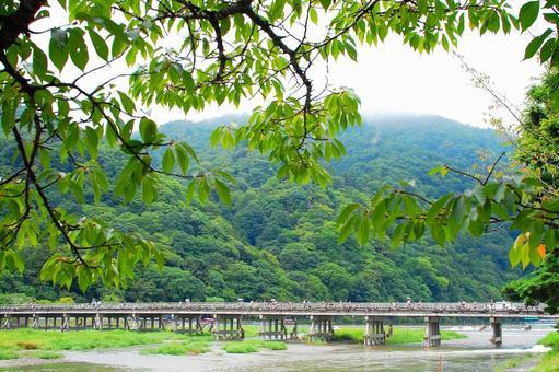 Togetsu Bridge over summer
