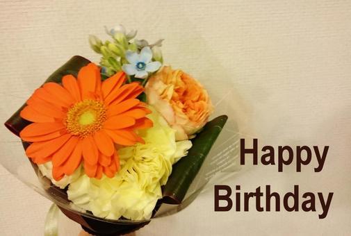 Happy Birthday Orange bouquet