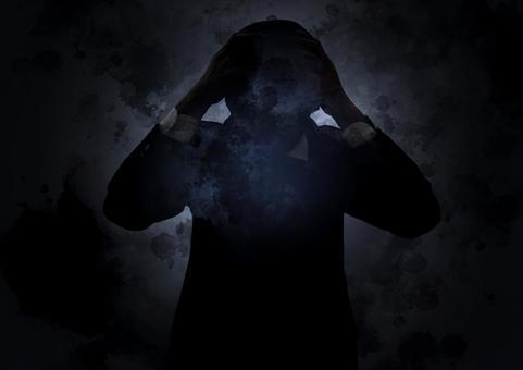 Dark image of worries and stress
