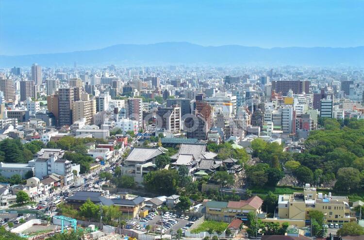 大阪 街並み 生駒方面の写真