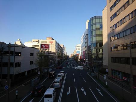Niigata cityscape in the evening