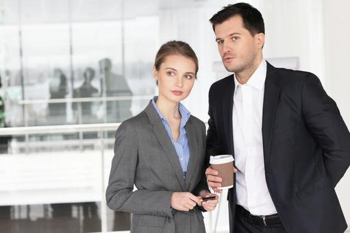 Businessman and business woman 7