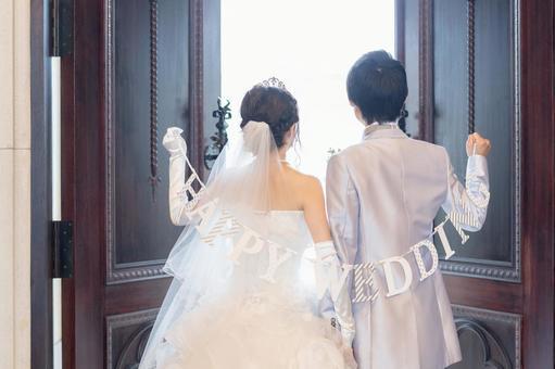 戴花環的新婚夫婦②