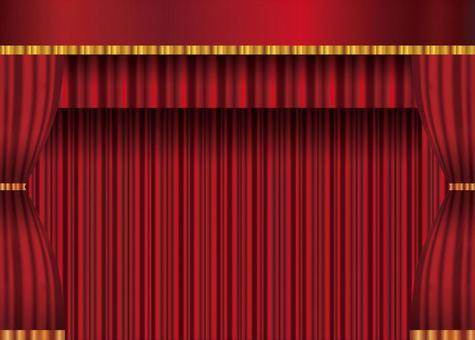 Black curtain matte color gorgeous gradient drape velvet curtain background illustration picture material commercial free