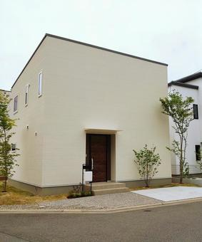 House with a simple appearance