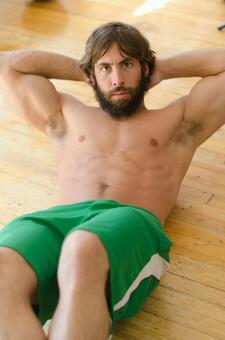 White male fitness model 70