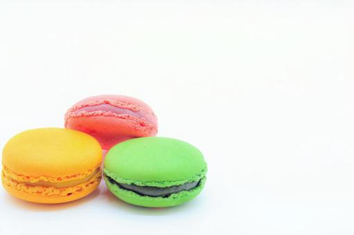 Three macaroons lined up