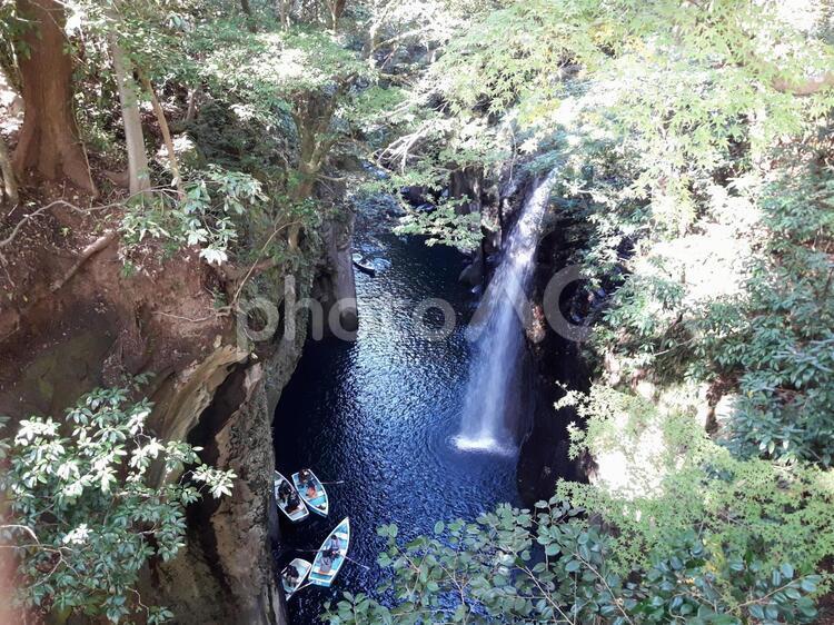 高千穂パワースポットの滝の写真