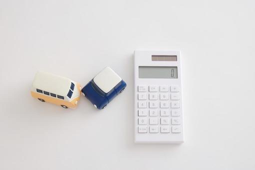 Car's ornament and calculator