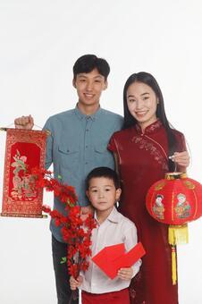 家庭5與春節裝飾