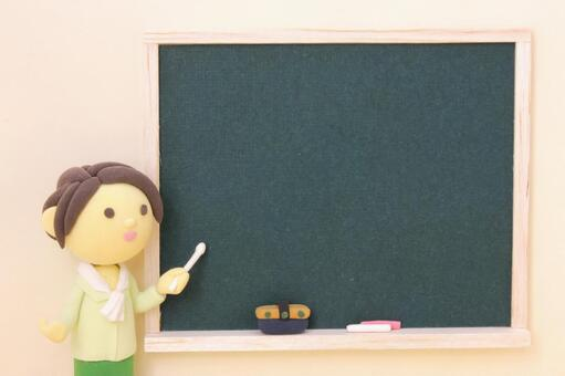 Blackboard and teacher 10