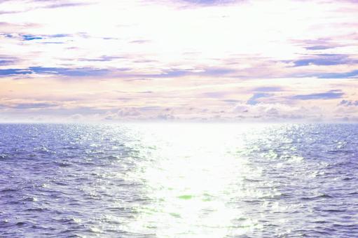Twilight sea Twilight sky Beautiful sea Summer image Twilight