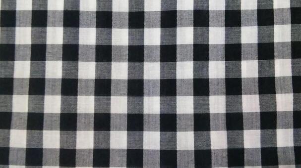 Fabric (black plaid)