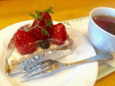 Strawberry plenty of short cake set