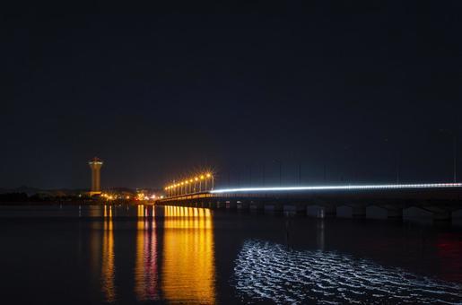Kasumigaura Bridge night view