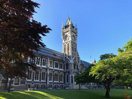 A historic overseas university building and green campus with a Harry Potter atmosphere 1