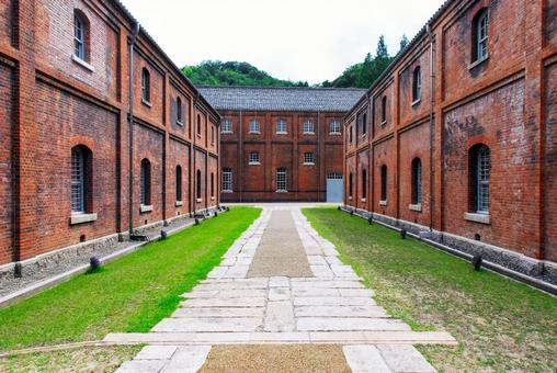 Maizuru Red Brick Park's red brick warehouses associated with the former Japanese Navy