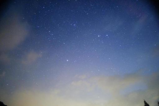 宵闇の星空