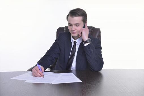 A businessman to talk 10