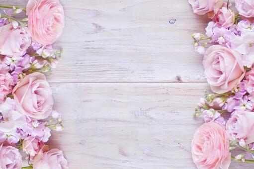 粉紅色的花朵框架