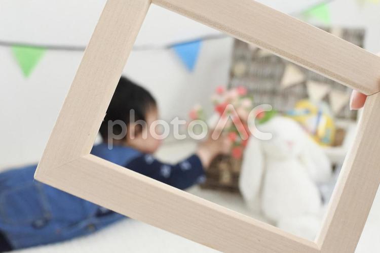 赤ちゃん フォトフレームの写真