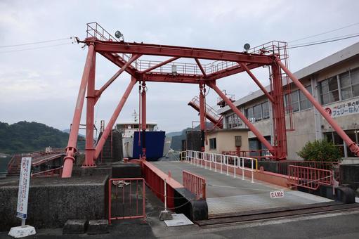 Ferry terminal in Ibusuki City, Kagoshima Prefecture