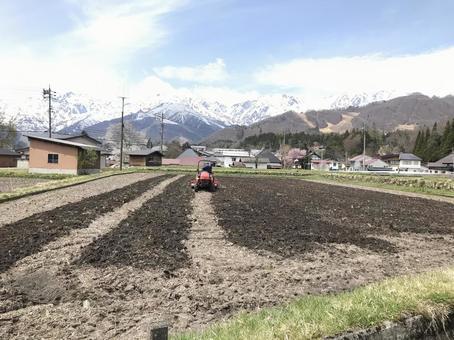 설산과 농사
