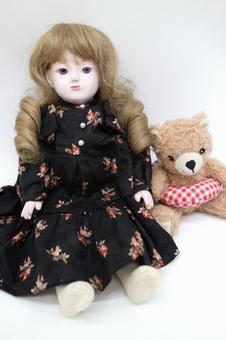 Western doll and teddy bear
