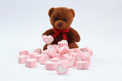 Valentine's Teddy Bear and Marshmallow 1
