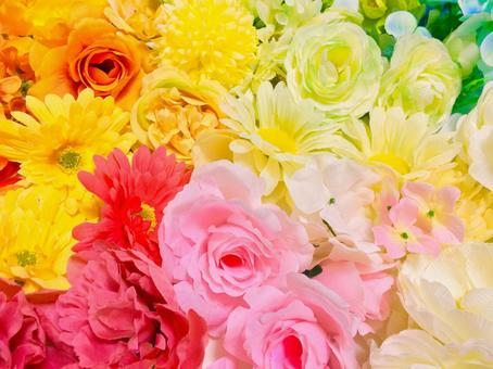 Colorful pastel flowers