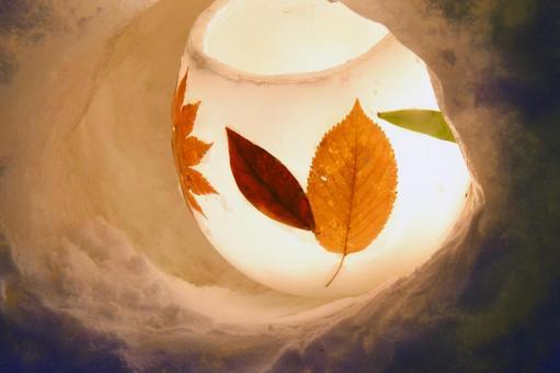 Lantern 2 of Otaru Snow Light Road