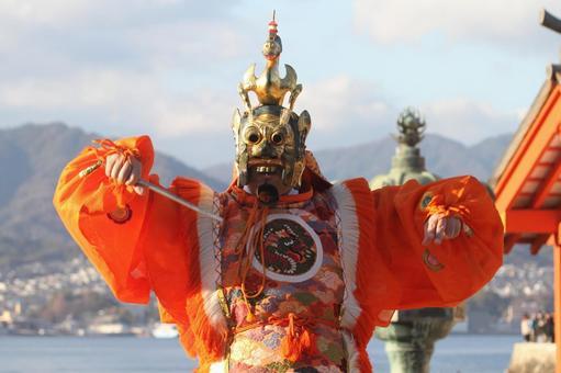 Miyajima traditional dance Ranryo